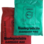 Compostable bio-degradable bin-liner waste garbage bag retail pack