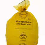 Compostable bio-degradable hospital bio-hazard waste garbage bag