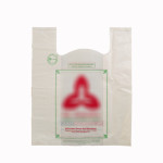 Compostable bio-degradable 'U' cut shopping carry carrier bag