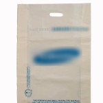 Compostable bio-degradable 'D' cut shopping carry carrier bag